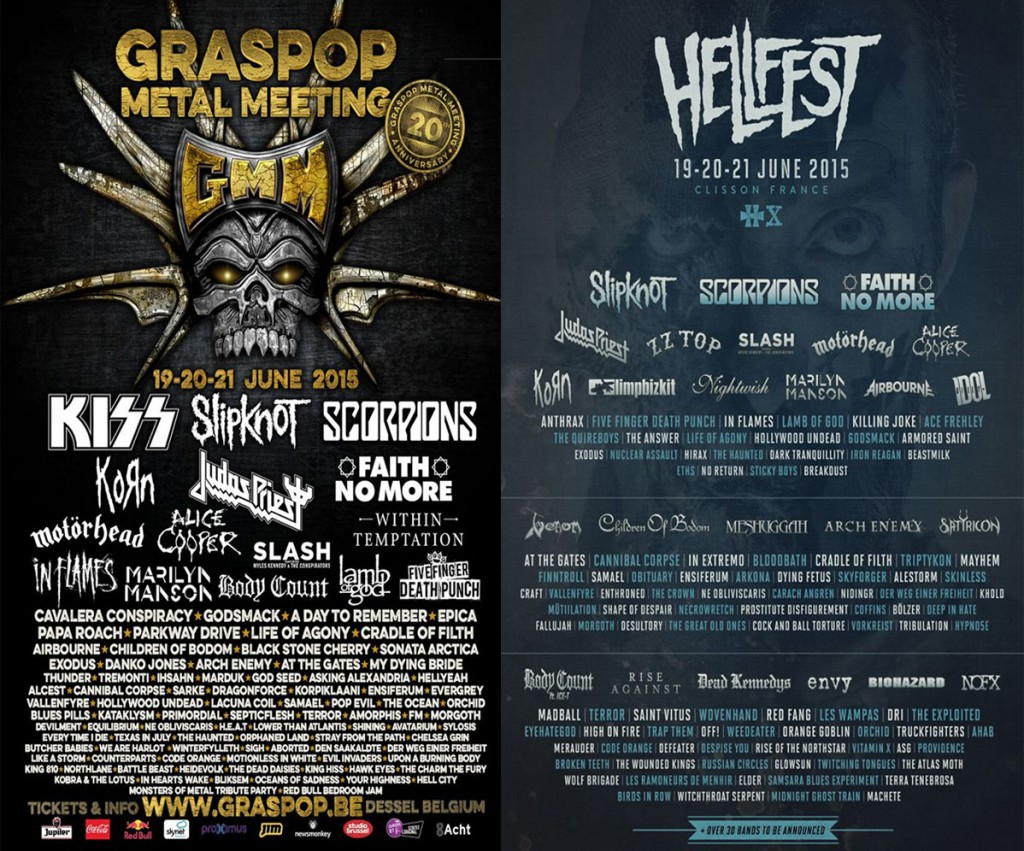 Graspop Hellfest poster